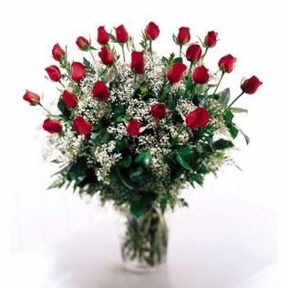 Picture of 24 Tea Roses in Vase