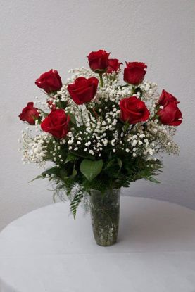 Picture of 12 Roses in Vase